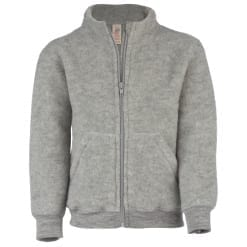 Fleecejacke Merinowolle Kinder Zip Engel