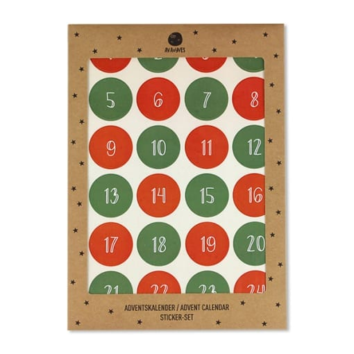 Adventskalender-Sticker, rot/grün (VE=6) × 1