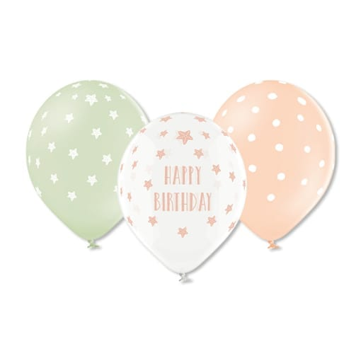 Ballons Meerjungfrau / Happy Birthday - 100% Naturlatex (Design 2020) (VE=6) × 1