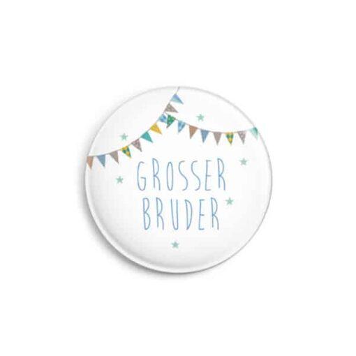 """Button """"Grosser Bruder"""", matt, 32 mm (VE= 6)×1"""