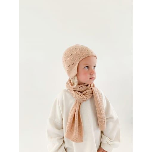 hat duascarf colour apricot scaled