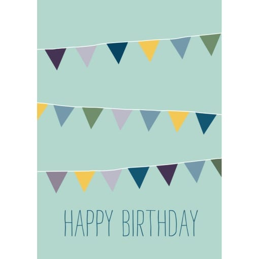 "Karte ""Happy birthday Wimpel"""