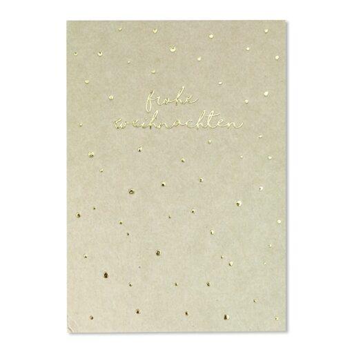 """Weihnachtspostkarte """"Frohe Weihnachten"""" mit Goldfolie"""