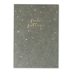 """Weihnachtspostkarte """"Frohes Fest"""" mit Goldfolie"""