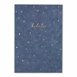 "Weihnachtspostkarte ""hohoho"" mit Goldfolie"