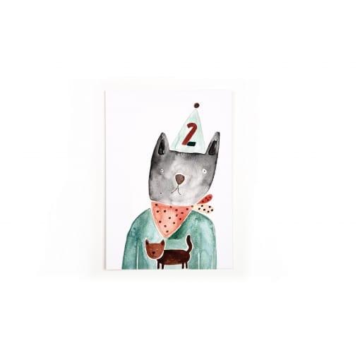 Postkarte Zahlen (2)