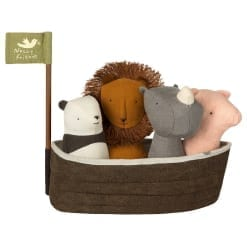 Arche Noah mit 4 Rassel-Tierchen