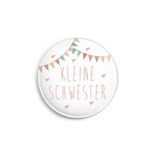 """Button """"Kleine Schwester"""" matt, 32 mm"""