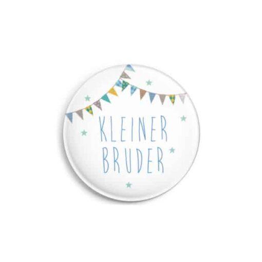 """Button """"Kleiner Bruder"""", matt, 32 mm"""