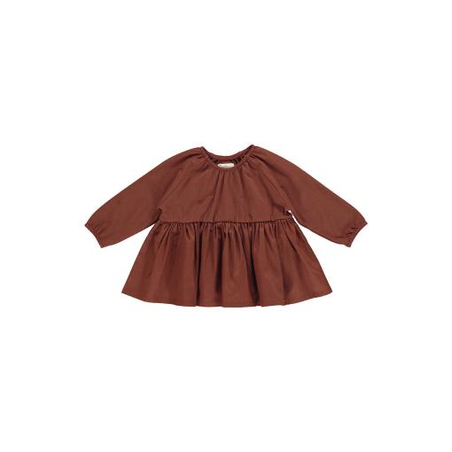 1877 ALVILDA VOLUME BABY DRESS RED WOOD primary