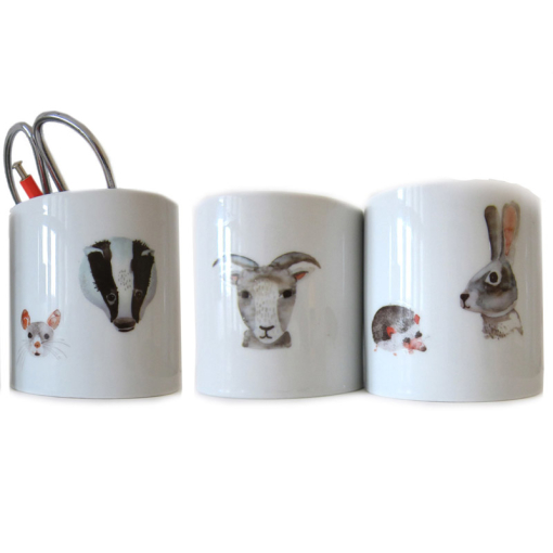 Animals porcelain stickers nuukk XS