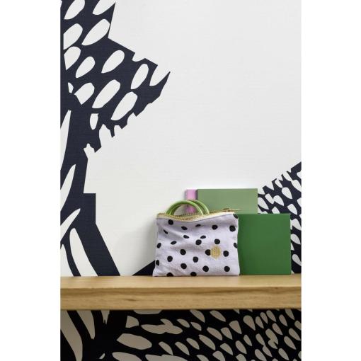polka lilas s pouch organic cotton1